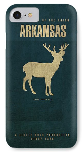 Arkansas State Facts Minimalist Movie Poster Art IPhone Case