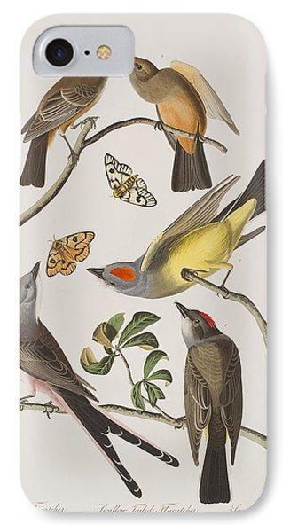 Arkansaw Flycatcher Swallow-tailed Flycatcher Says Flycatcher IPhone 7 Case by John James Audubon