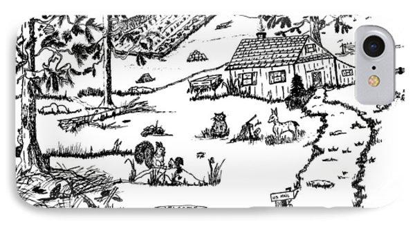 Arlenne's Idyllic Farm Phone Case by Daniel Hagerman