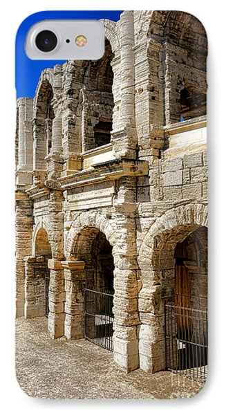 IPhone Case featuring the photograph Arles Roman Amphitheater by Olivier Le Queinec