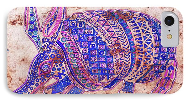 IPhone Case featuring the painting Armadillo by J- J- Espinoza