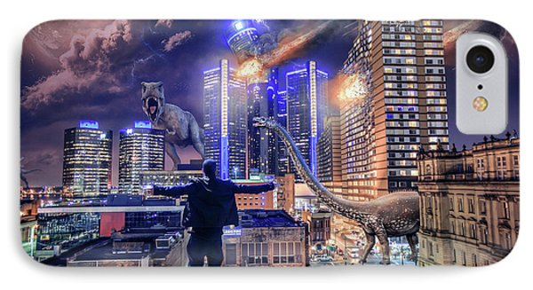 IPhone Case featuring the photograph Armageddon Detroit by Nicholas Grunas