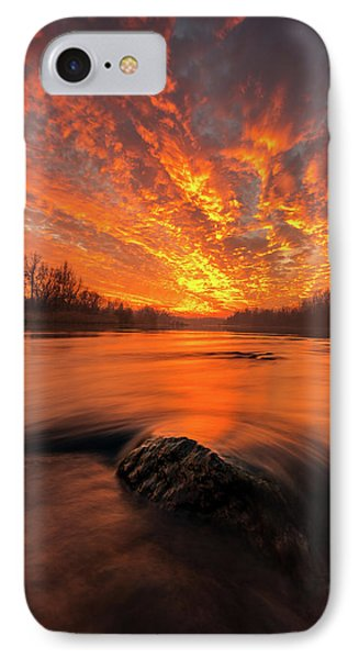 IPhone Case featuring the photograph Fire On Sky by Davorin Mance
