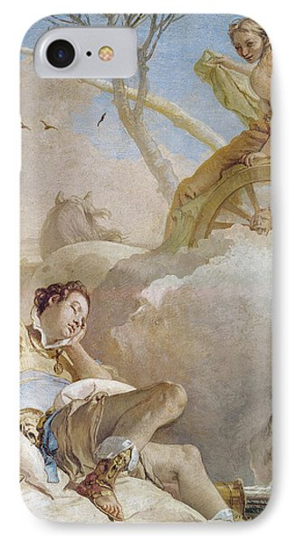Armida Abducting The Sleeping Rinaldo IPhone Case by Giovanni Battista Tiepolo