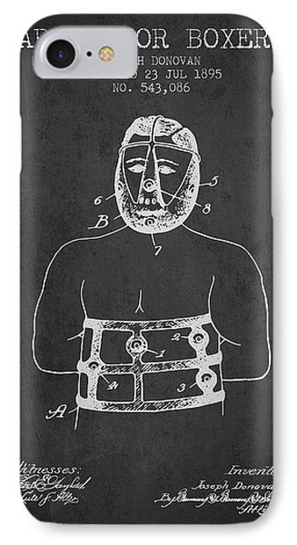 Armor For Boxers Patent From 1895 - Charcoal IPhone Case by Aged Pixel