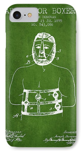 Armor For Boxers Patent From 1895 - Green IPhone Case by Aged Pixel