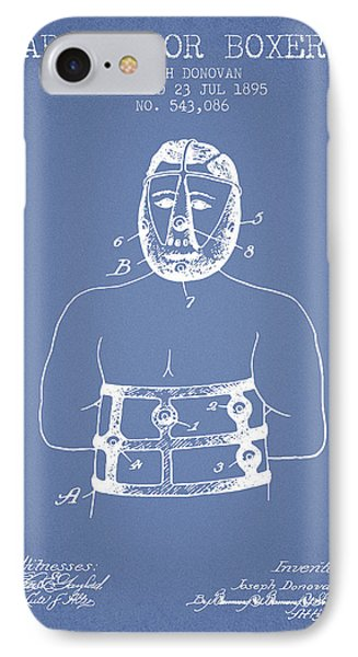 Armor For Boxers Patent From 1895 - Light Blue IPhone Case by Aged Pixel