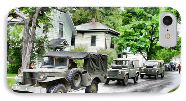 Army Jeeps On Parade IPhone Case by Rena Trepanier