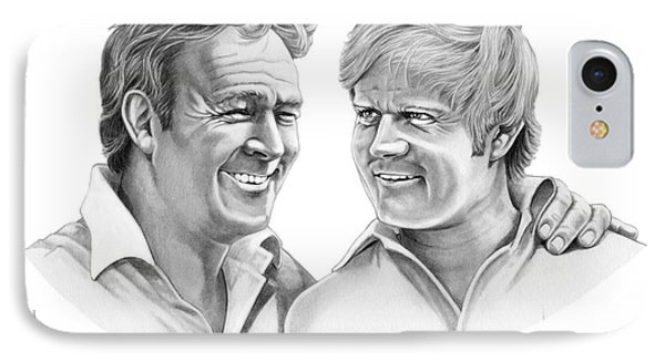 Arnold Palmer-jack Nicklaus Phone Case by Murphy Elliott