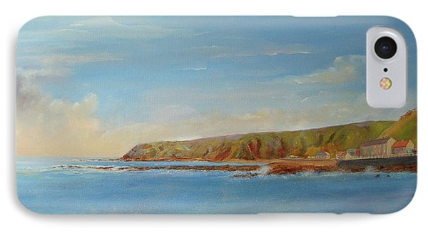 IPhone Case featuring the painting Around Burnmouth Scotland by Beatrice Cloake