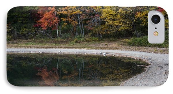 Around The Bend- Hiking Walden Pond In Autumn IPhone Case by Toby McGuire