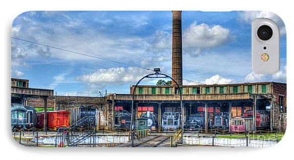 Around The House Central Of Georgia Railroad Art IPhone Case by Reid Callaway