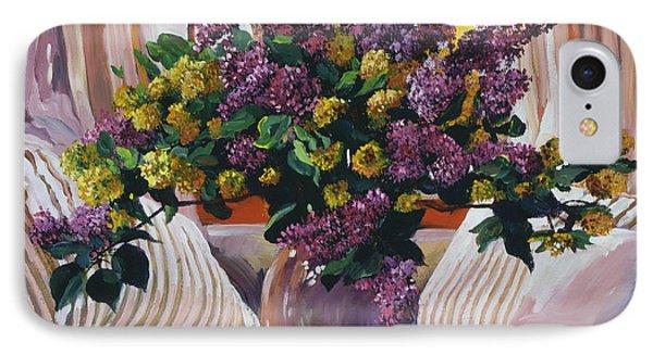 Arrangement In Lavender IPhone Case by David Lloyd Glover
