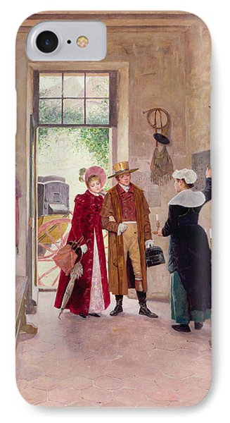 Arrival At The Inn Phone Case by Charles Edouard Delort