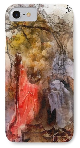 IPhone Case featuring the painting Arrival by Mo T