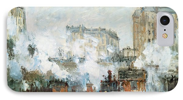 Arrival Of A Train IPhone Case by Claude Monet