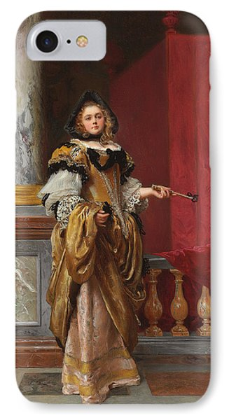 Arriving At The Ball IPhone Case by Gustave Jacquet