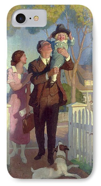 Arriving Home IPhone Case by Newell Convers Wyeth