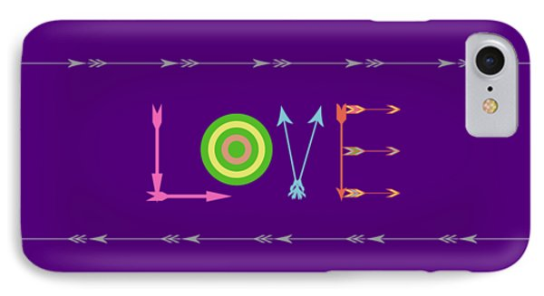Arrow Love - Changeable Background Color IPhone Case by Inspired Arts