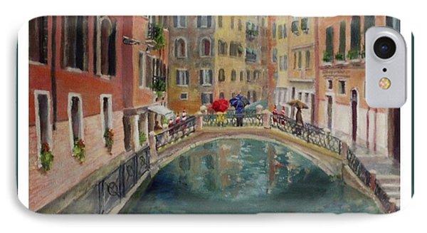 Art Card - Umbrellas In Venice IPhone Case