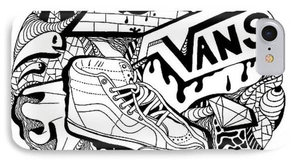 Art Circle Vans IPhone Case by Kenal Louis