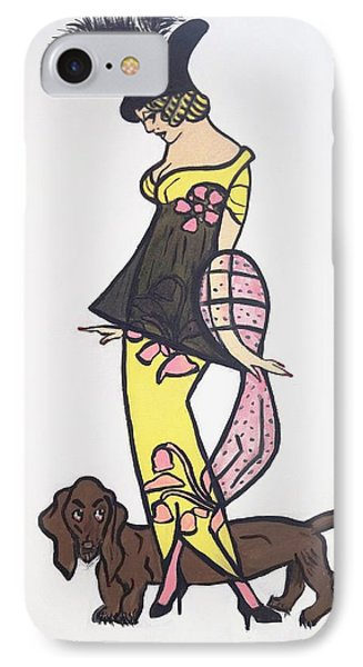 Art Deco  1920's Girls And Dogs IPhone Case