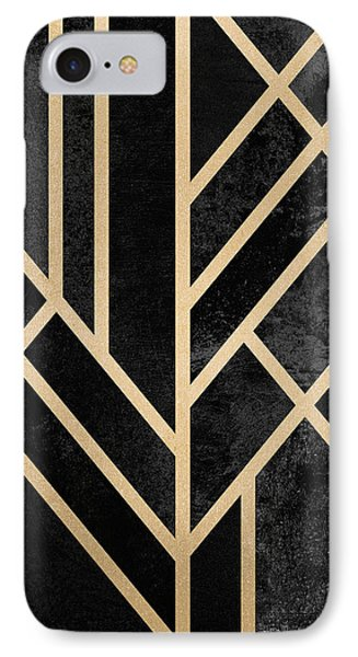 Art Deco Black IPhone Case by Elisabeth Fredriksson