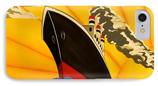Art Deco Boat IPhone Case by Emma Childs