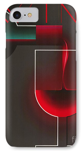 Art Deco Red Wine IPhone Case by Mindy Sommers