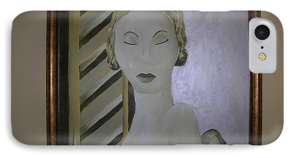 Art Deco Woman IPhone Case by Brittany Graham