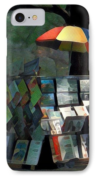Art In The Park - Central Park New York IPhone Case by Miriam Danar