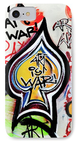IPhone Case featuring the photograph Art Is War by Art Block Collections