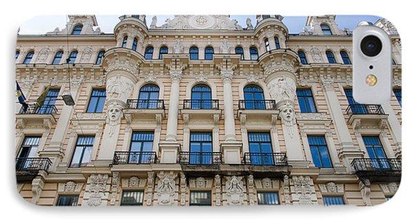Art Nouveau Building Alberta Ilea 13 In Riga IPhone Case by RicardMN Photography