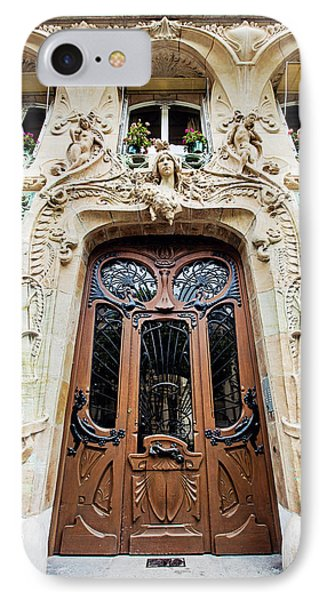 IPhone Case featuring the photograph Art Nouveau Doors - Paris, France by Melanie Alexandra Price
