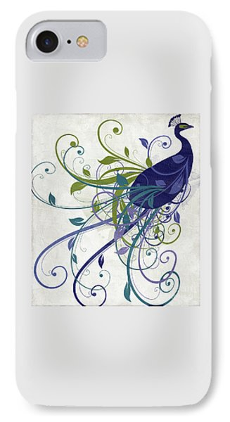 Peacock iPhone 7 Case - Art Nouveau Peacock I by Mindy Sommers