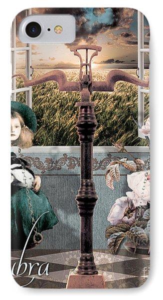 Art Nouveau Zodiac Libra IPhone Case by Mindy Sommers