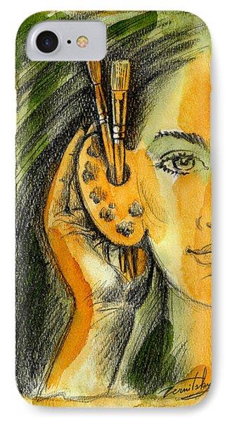 Art Of Listening IPhone Case by Leon Zernitsky
