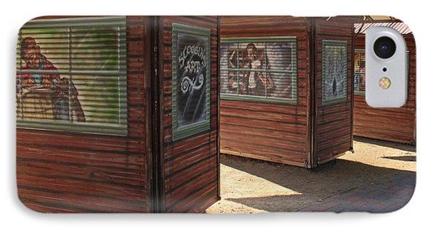Art Shacks Old Town IPhone Case by Cheryl Del Toro