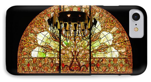 Artful Stained Glass Window Union Station Hotel Nashville Phone Case by Susanne Van Hulst