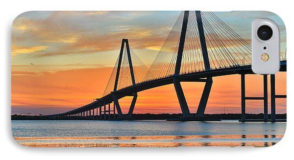Arthur Ravenel Jr. Bridge At Dusk - Charleston Sc IPhone Case