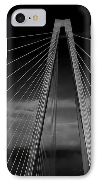 Arthur Ravenel Jr Bridge Phone Case by DigiArt Diaries by Vicky B Fuller