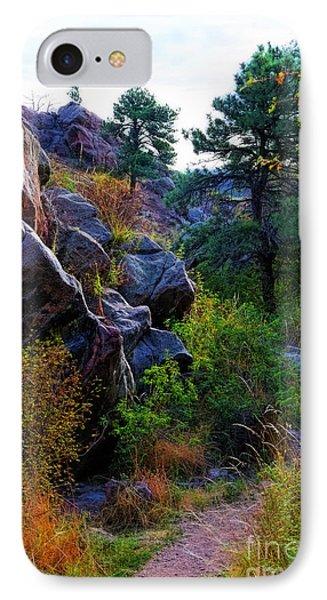 Arthur's Rock Trail IPhone Case by Jon Burch Photography