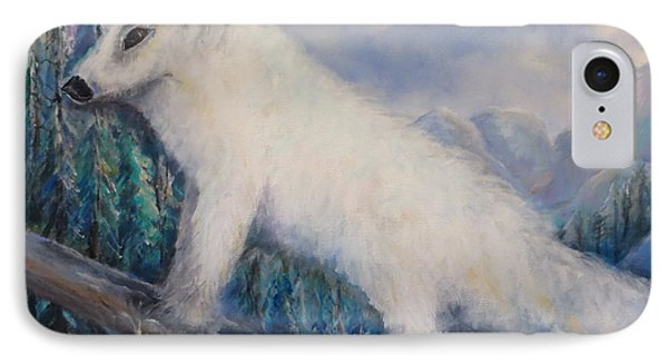 IPhone Case featuring the painting Artic Fox by Bernadette Krupa