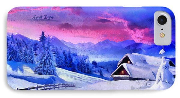 Artic Winter  - Monet Style -  - Da IPhone Case