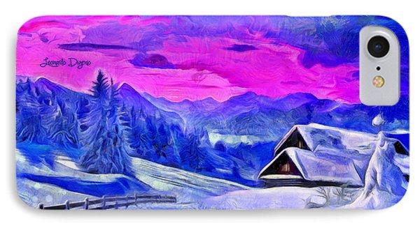 Artic Winter  - Van Gogh Style -  - Da IPhone Case