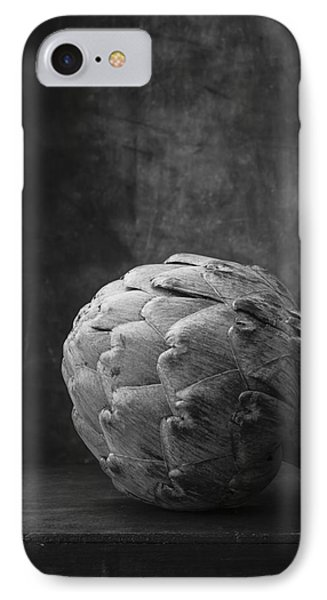 Artichoke Black And White Still Life IPhone 7 Case by Edward Fielding