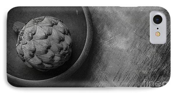 Artichoke Black And White Still Life Three IPhone 7 Case by Edward Fielding