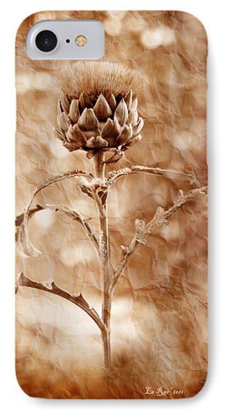 Artichoke Bloom IPhone Case by La Rae  Roberts