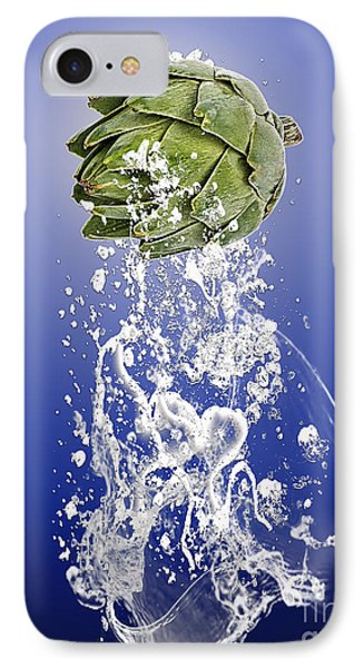 Artichoke Splash IPhone Case by Marvin Blaine