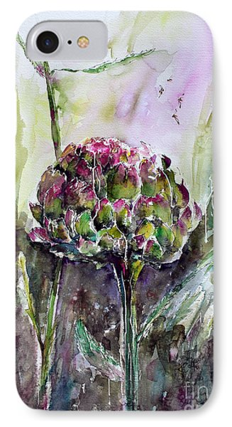 Artichoke Watercolor And Ink By Ginette IPhone Case